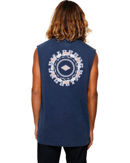 NAVY MENS CLOTHING BILLABONG SINGLETS - BB-9592504-NVY