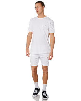 ROGUE WHITE MENS CLOTHING A.BRAND SHORTS - 809783117