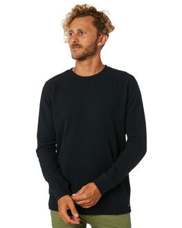 BLACK MENS CLOTHING ACADEMY BRAND JUMPERS - BA700BLK