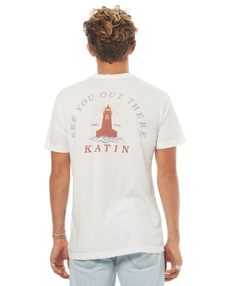 WHITE MENS CLOTHING KATIN TEES - TSLIG16WHT