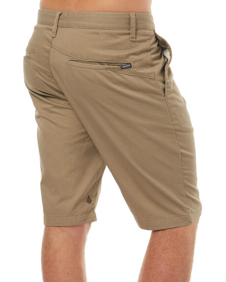 KHAKI MENS CLOTHING VOLCOM SHORTS - A09313S0KHA