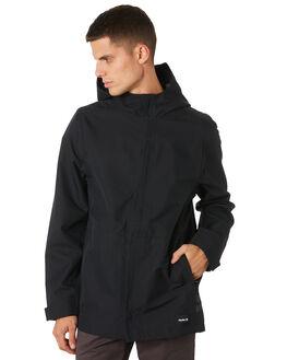 BLACK MENS CLOTHING HURLEY JACKETS - AJ2618010
