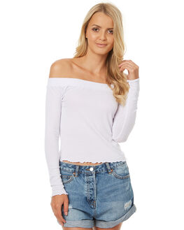WHITE WOMENS CLOTHING ALL ABOUT EVE FASHION TOPS - 6403085WHT