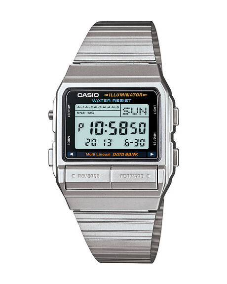SILVER MENS ACCESSORIES CASIO WATCHES - DB380-1DF