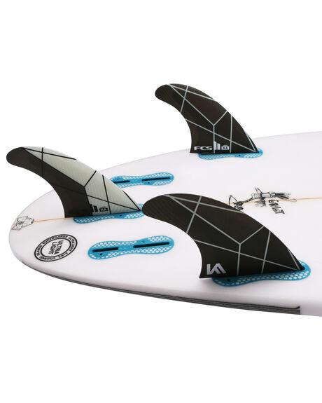 BACK WHITE BOARDSPORTS SURF FCS FINS - FKAL-PC02-LG-TS-RBKW