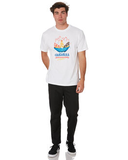 WHITE MULTI MENS CLOTHING ADIDAS TEES - EH8611WHTML