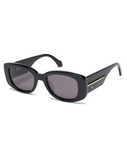 GLOSS BLACK MENS ACCESSORIES VALLEY SUNGLASSES - S0499GBLK