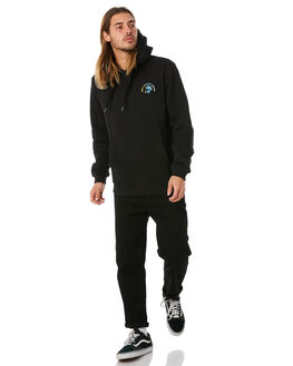 BLACK MULTI MENS CLOTHING SWELL JUMPERS - S5184450BKMUL