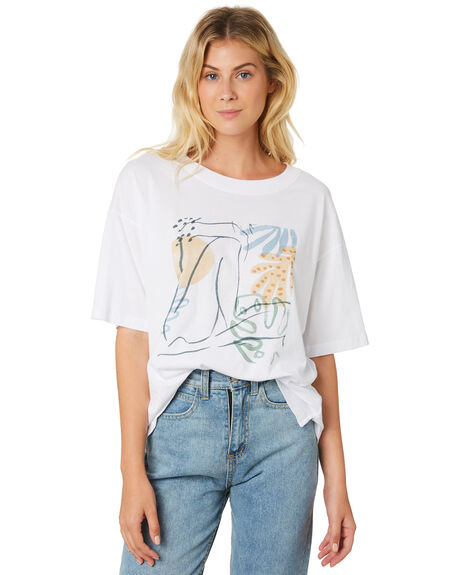 WHITE WOMENS CLOTHING THE HIDDEN WAY TEES - H8189003WHITE