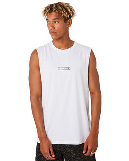 WHITE MENS CLOTHING RUSTY SINGLETS - MSM0260WHT