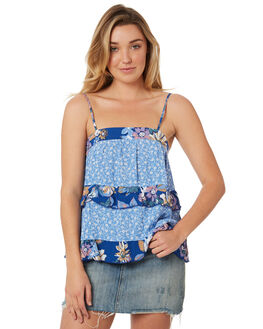 BLUE WOMENS CLOTHING THE HIDDEN WAY FASHION TOPS - H8184169BLUE