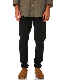 BLACK MENS CLOTHING ACADEMY BRAND PANTS - 19W109BLK