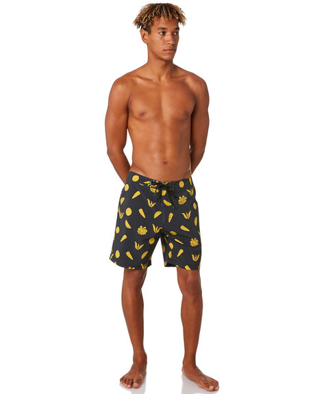 DIRTY BLACK MENS CLOTHING BANKS BOARDSHORTS - BS0211DBL