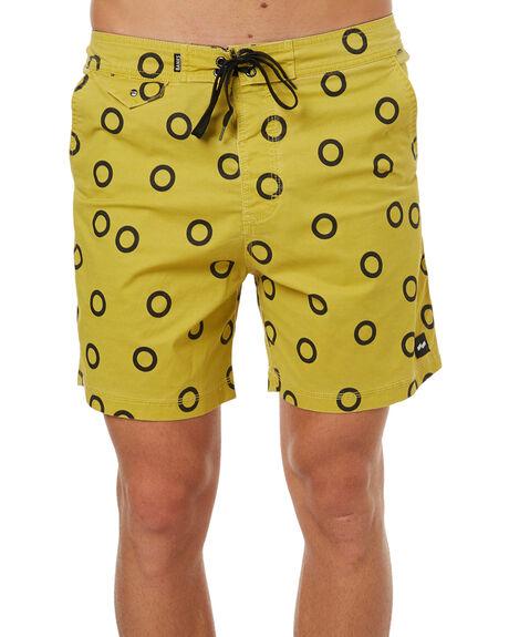 MUSTARD YELLOW MENS CLOTHING BANKS BOARDSHORTS - BS0108MYL