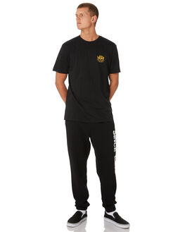 BLACK OLD GOLD MENS CLOTHING VANS TEES - VNA36O1TK4BKGLD