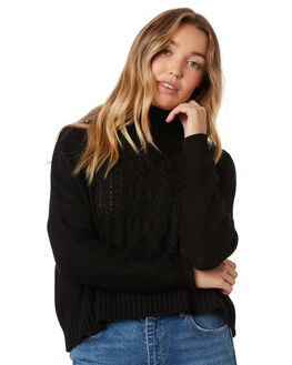 BLACK OUTLET WOMENS SASS KNITS + CARDIGANS - 13702KNSSBLK