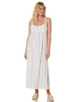 WHITE BLUE STRIPE WOMENS CLOTHING SAINT HELENA DRESSES - SHS19119STP
