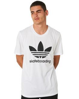 WHITE BLACK MENS CLOTHING ADIDAS TEES - CW2347WHT