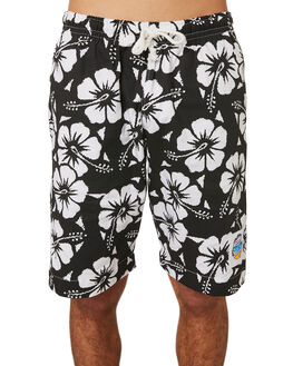 BLACK MENS CLOTHING OKANUI BOARDSHORTS - OKBOHBBLBLK