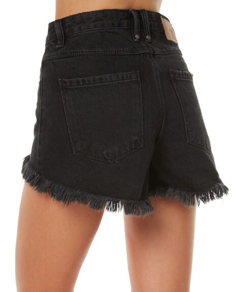FADED BLACK WOMENS CLOTHING THRILLS SHORTS - WTDP-310BFBLK