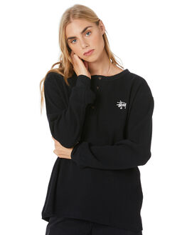 BLACK WOMENS CLOTHING STUSSY TEES - ST106112BLK