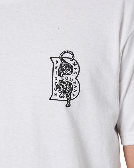 WHITE MENS CLOTHING BRIXTON TEES - 16258WHITE