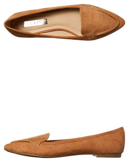 TAN SUEDE WOMENS FOOTWEAR BILLINI FLATS - F38859