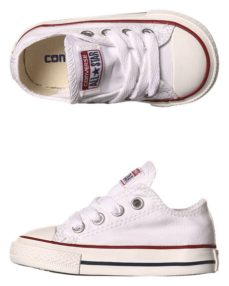 OPTICAL WHITE KIDS BOYS CONVERSE FOOTWEAR - 7J256WHT