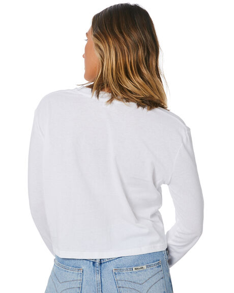 WHITE WOMENS CLOTHING NUDE LUCY TEES - NU23900WHT