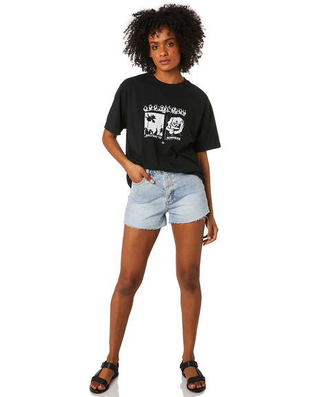 BLACK WOMENS CLOTHING THRILLS TEES - WTH20-160BBLK