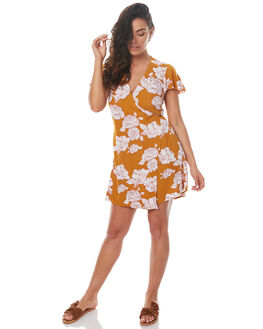 TOBACCO FLOWER WOMENS CLOTHING RUE STIIC DRESSES - S01731PTOBA