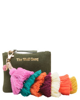 LEAF WOMENS ACCESSORIES THE WOLF GANG PURSES + WALLETS - TWGINC002LEAF