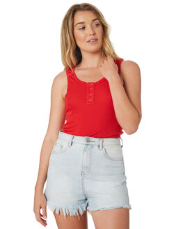RED OUTLET WOMENS SWELL SINGLETS - S8189273RED
