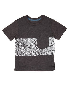 HEATHER BLACK KIDS BOYS VOLCOM TOPS - Y5711806HBK