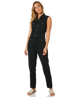 BLACK WOMENS CLOTHING A.BRAND PLAYSUITS + OVERALLS - 71517-100