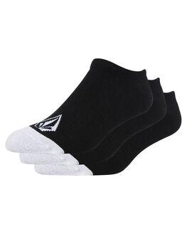 BLACK MENS CLOTHING VOLCOM SOCKS + UNDERWEAR - D6321802BLK