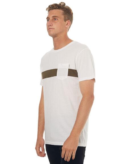 WHITE MENS CLOTHING RHYTHM TEES - JUL17-CT09-WHT