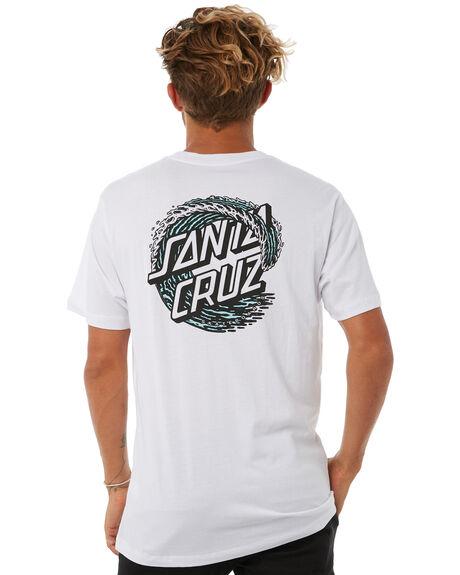 WHITE MENS CLOTHING SANTA CRUZ TEES - SC-MTA8664WHT