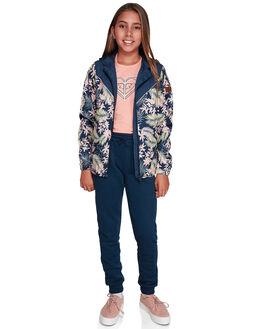 DRESS BLUES FLORAL KIDS GIRLS ROXY JUMPERS + JACKETS - ERGJK03063-BTK8