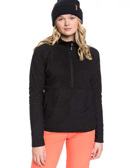 TRUE BLACK WOMENS CLOTHING ROXY JUMPERS - ERJFT03964-KVM8