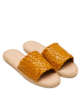 MUSTARD WOMENS FOOTWEAR HUMAN FOOTWEAR SLIDES - CHRISSYMUST