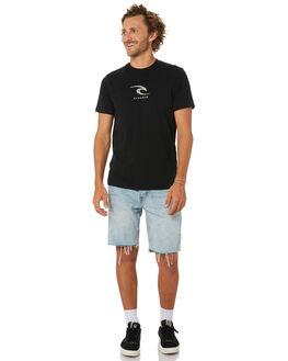 BLACK MENS CLOTHING RIP CURL TEES - CTENS90090