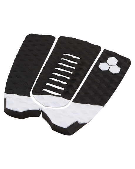 BLACK WHITE BOARDSPORTS SURF CHANNEL ISLANDS TAILPADS - 16394102014BLKWH