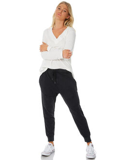 BLACK WOMENS CLOTHING ALL ABOUT EVE PANTS - 6414024BLK