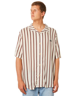 WHITE SAND MENS CLOTHING STUSSY SHIRTS - ST083411WHTSD