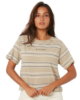 OXFORD TAN WOMENS CLOTHING THRILLS TEES - WTA20-108COXTAN