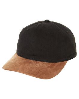 BLACK TAN MENS ACCESSORIES FLEX FIT HEADWEAR - 173107BKTA