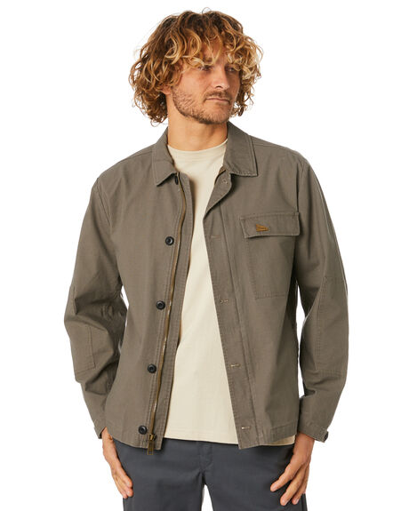 ARMY GREEN MENS CLOTHING BRIXTON JACKETS - 03275ARGRE