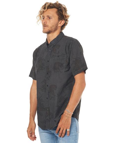 BLACK MENS CLOTHING EZEKIEL SHIRTS - ES164038BLK