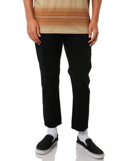 BLACK MENS CLOTHING THRILLS JEANS - TDP-414BBLK